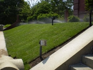 landscape irrigation for the Library restaurant in portsmouth nh