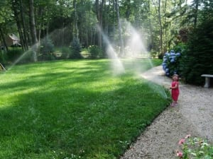 landscape irrigation with sprinklers in hampton nh